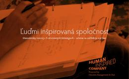 Ľuďmi inšpirovaná spoločnosť
