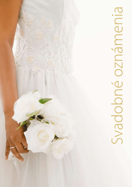 Svadobné oznámenie - ForPress NITRIANSKE TLAČIARNE
