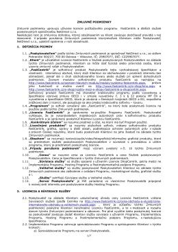 Zmluvné podmienky platné a účinné od 25. 5. 2010 do