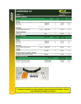 Cenník Ironman Jeep vo formáte PDF - zobraziť