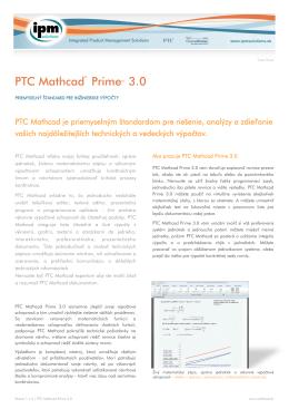 PTC Mathcad Prime 3.0 (SK)