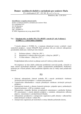 Prieskum trhu na PO+BOZP+CO (2) - Domov sociálnych služieb a
