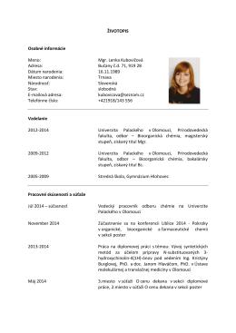 Mgr. Lenka Kubovičová Adresa