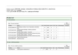 Študijný program: DSETN09 - etnológia