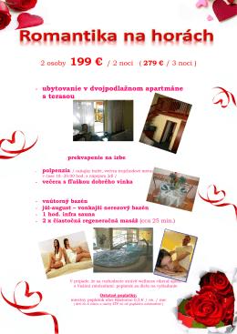 Romantický pobyt - Horský hotel Remata