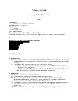 Zmluva o sluzbach CE 12/2012