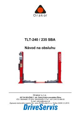 TLT-240 / 235 SBA Návod na obsluhu
