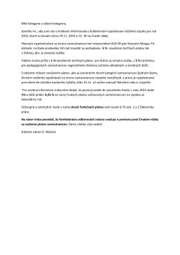 info z 19.11. KZVS pre rok 2O15
