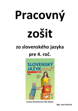 zo slovenského jazyka pre 4. roč.