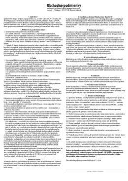 obchodné podmienky v pdf