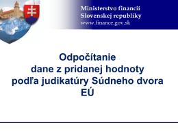 Odpočítanie dane z pridanej hodnoty podľa judikatúry