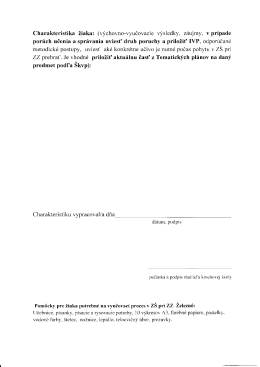 Charakteristika žiaka 2 strana