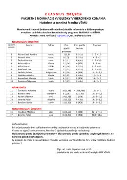 Hudobná a tanečná fakulta VŠMU (pdf)