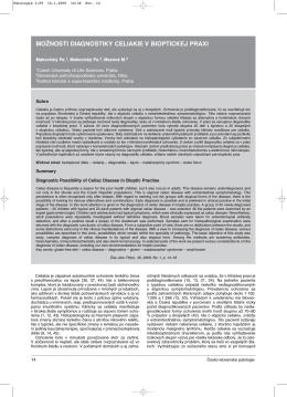 možnosti diagnostiky celiakie v bioptickej praxi - česko