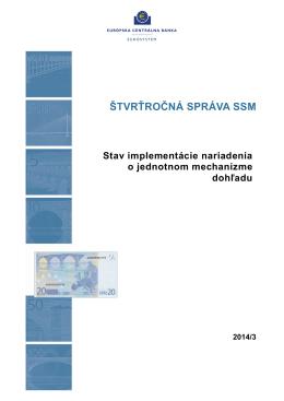 ŠTVRŤROČNÁ SPRÁVA SSM - ECB Banking Supervision