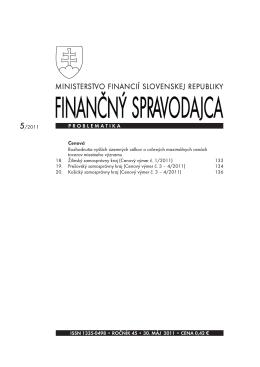 Finančný spravodajca 5/2011