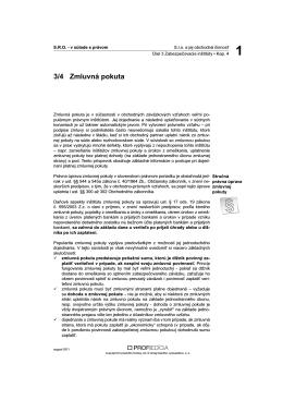 Zmluvná pokuta - VERLAG DASHÖFER, vydavateľstvo, sro