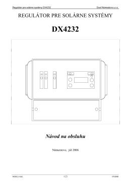 regulátor pre solárne systémy dx4232