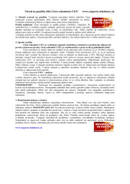 Návod na použitie (SK) Clear echomizéra CE5+ www.ecigarety
