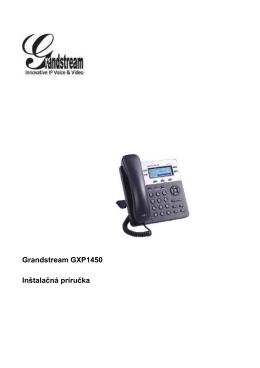 (Inštalačná príručka_GXP1450_SK)