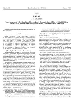 205 ZÁKON z 1. júla 2014, - Ministerstvo spravodlivosti SR