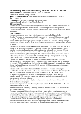 Prevádzkový poriadok Univerzitnej knižnice TnUAD v Trenčíne
