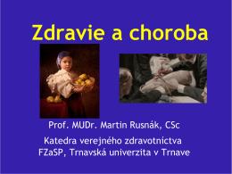 Definícia zdravia podľa WHO - Trnavská univerzita v Trnave