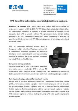 UPS Eaton 5E s technológiou automatickej