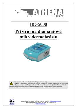 BO-6000 Prístroj na diamantovú mikrodermabráziu