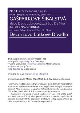GAŠPARKOVE ŠIBALSTVÁ Dezorzovo Lútkové Divadlo