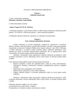 Stanovy občianského združenia Vlada Plulíka