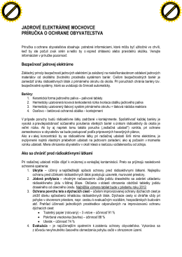 Príručka na ochranu obyvateľstva - EMO