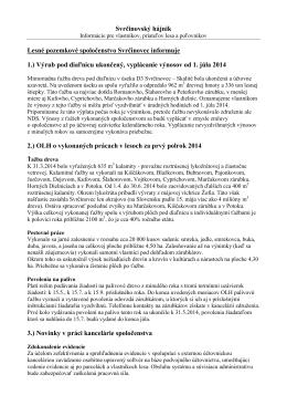 Hájnik 2/2014 - Lesné pozemkové spoločenstvo Svrčinovec