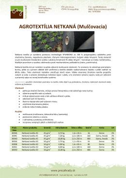 Netkané Agrotextíle