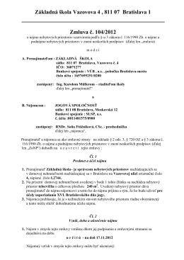 Jogová spoločnosť - ZŠ, Vazovova 4, 811 07 Bratislava