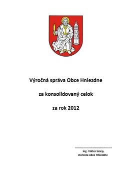 Konsolidovaná výročná správa za rok 2012