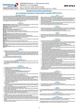 VPP 275-3 - Komunálna poisťovňa