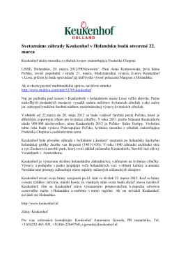Svetoznáme záhrady Keukenhof v Holandsku budú