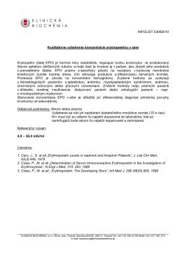 INFOLIST 03082010 Kvalitatívne vyšetrenie koncentrácie