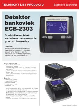 Detektor bankoviek ECB-2303