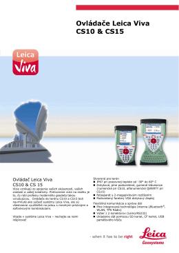 Ovládače Leica Viva CS10 & CS15