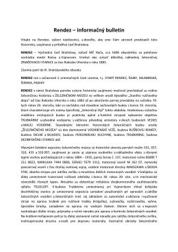 Rendez – informačný bulletin