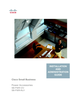 Cisco Small Business Power Accessories Installation and