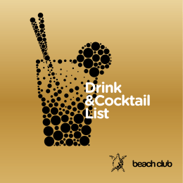Drink &Cocktail List - beach