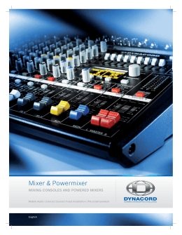 Dynacord Powered Mixer Catalog
