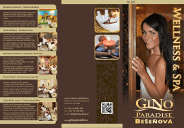 WEllNESS SPA - Gino Paradise Bešeňová
