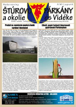 2012/2 - Mesto Štúrovo