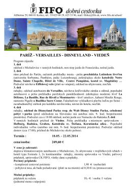 exkurzia Paríž 2014