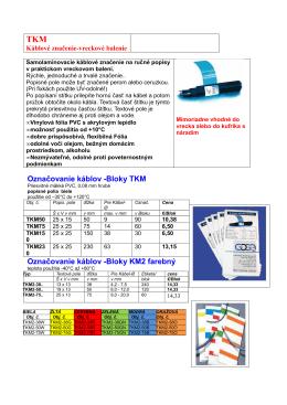 Označovanie káblov, vodičov - pre ručný popis, pre laserovú tlačiareň