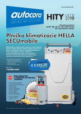 Plnička klimatizácie HELLA SECUmobile